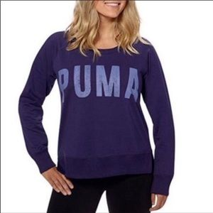 PUMA Purple Dry Cell Sweatshirt Size Medium/Large